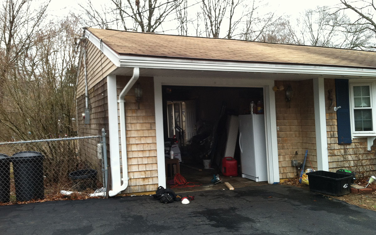 Addition/remodeling. Extended and converted garage into master bedroom suite. Taunton, MA 02780.
